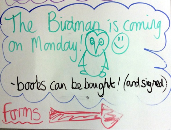 """Birdman"" visits Walhampton School"